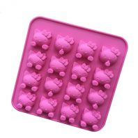 16 Cavities Cartoon Cats Silicone Mould Tray LMH005
