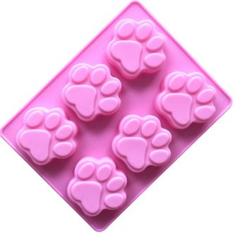 6 Cavities Cat Bear Claws Silicone Mould Tray LMH006