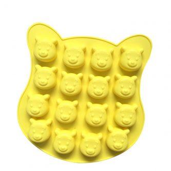 16 Cavities Cartoon Bears Silicone Mould Tray LMH009