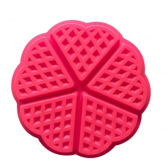 5 Cavities Waffle Plate Silicone Mould Tray LMH013