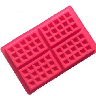 4 Cavities Waffle Plate Silicone Mould Tray LMH014
