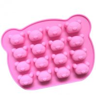 Cartoon Bears Heads Silicone Mould Tray LMH029