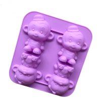 Cute Monkeys Silicone Mould Tray LMH056