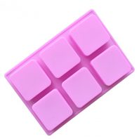 6 Cavities Rectangle Silicone Mould Tray LMH064