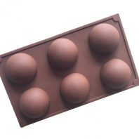 6 Cavities Half Ball Silicone Mould Tray LMH087