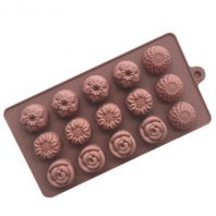 15 Cavities Flowers Silicone Mould Tray LMH115