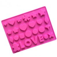 LOVE Characters Silicone Mould Tray LMH118