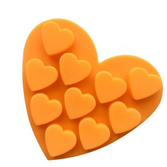 10 Cavities Hearts Silicone Mould Tray LMH119