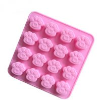16 Cavities Cat Bear Paw Silicone Mould Tray LMH126