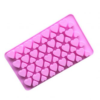 56 Cavities Hearts Silicone Mould Tray LMH132