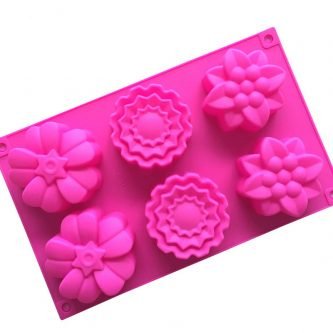 6 Cavities Flowers Silicone Mould Tray LMH144