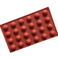 24 Cavities Half Ball  Silicone Mould Tray LMH154