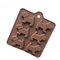 6 Cavities Dogs Silicone Mould Tray LMH159