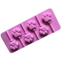 6 Cavities Cat Paws Lollipop Silicone Mould Tray LMH171