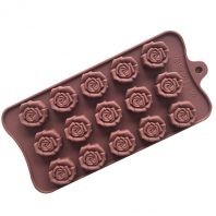 15 Cavities Roses Silicone Mould Tray LMH179