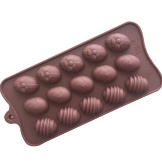15 Cavities Easter Eggs Silicone Mould Tray LMH186