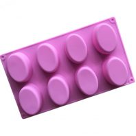 8 Cavities Large Ellipse Silicone Mould Tray LMH188