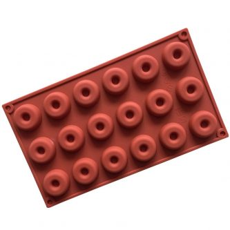 18 Cavities Doughnut Silicone Mould Tray LMH189