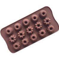 15 Cavities Flowers Silicone Mould Tray LMH203