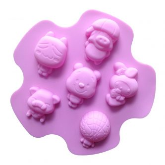 6 Cavities Cartoon Silicone Mould Tray LMH206