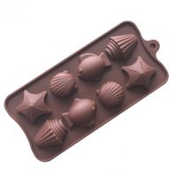8 Cavities Fish Shell Silicone Mould Tray LMH603