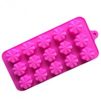 15 Cavities Chrysanthemum Clover Silicone Mould Tray LMH611