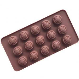 15 Cavities Roses Silicone Mould Tray LMH613