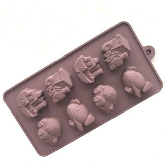 8 Cavities Vehicle Silicone Mould Tray LMH619