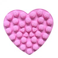 LOVE Roses Heart Silicone Mould Tray LMH626