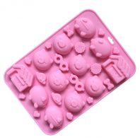 Pigs Heads House Silicone Mould Tray LMH627