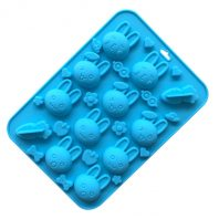 Rabbit Carrot Silicone Mould Tray LMH639