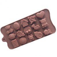 LOVE Heart Bear Silicone Mould Tray LMH642