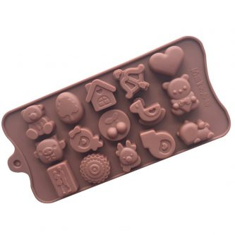 LOVE Heart Bear Silicone Mould Tray LMH642