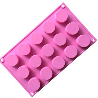 15 Cavities Cylinder Silicone Mould Tray LMH652
