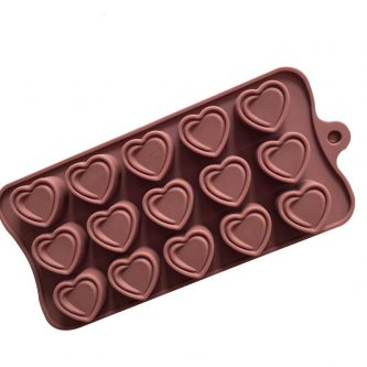 15 Cavities Love Hearts Silicone Mould Tray LMH658