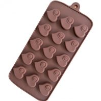 15 Cavities Hearts Silicone Mould Tray LMH669