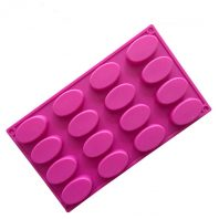 16 Cavities Ellipse Silicone Mould Tray LMH712