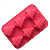 6 Cavities Christmas Trees Silicone Mould Tray LMH717