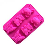 Rabbit Bear Butterfly Silicone Mould Tray LMH731