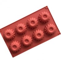 8 Cavities Flowers Silicone Mould Tray LMH754