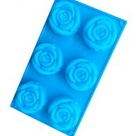 6 Cavities Flowers Silicone Mould Tray LMH765