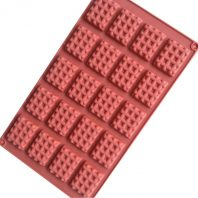 20 Cavities Waffle Biscuit Silicone Mould Tray LMH767
