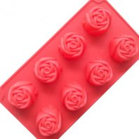8 Cavities Flowers Silicone Mould Tray LMH768
