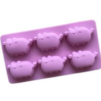 6 Cavities Fat Cats Silicone Mould Tray LMH770