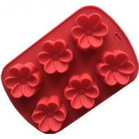6 Cavities Flowers Silicone Mould Tray LMH790